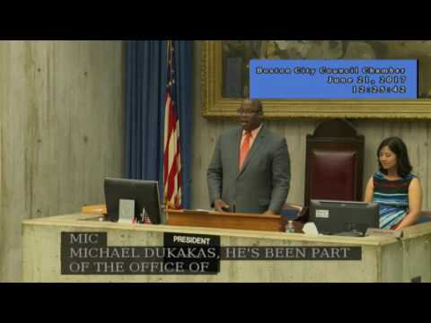 Boston City Council Meeting on June 21, 2017