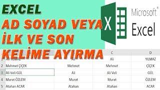 Download lagu Excel İlk Kelime İsim Soyisim Ayırma Listeden Kelime Ayırma MP3
