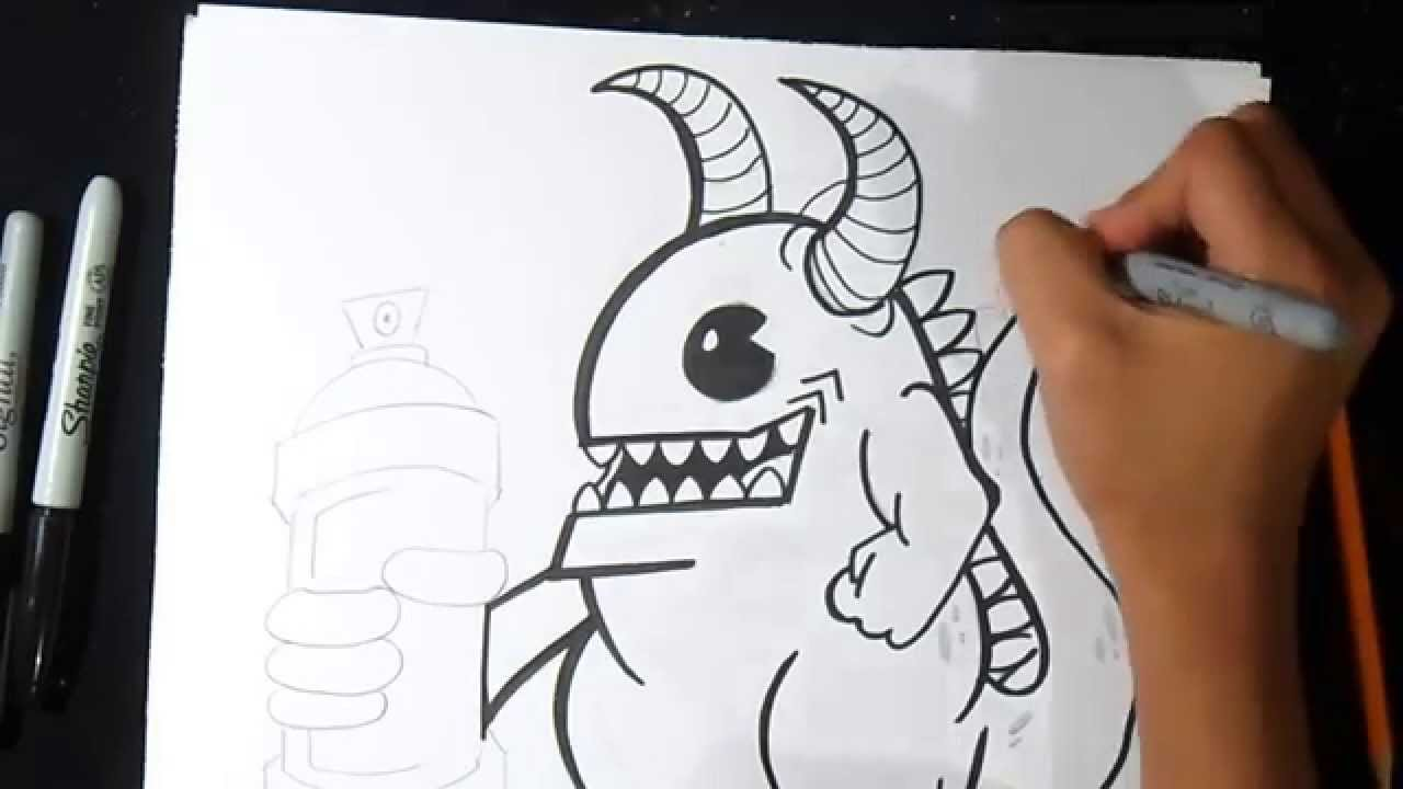 Bien-aimé come disegnare un drago Graffiti - YouTube KU68