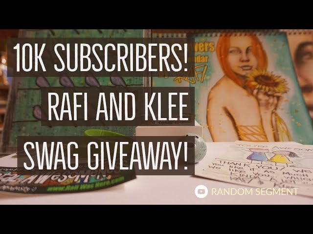 10k Subscribers Rafi And Klee Swag Givaway!