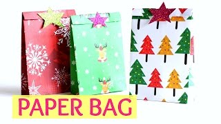 DIY Crafts: Paper GIFT BAG (Easy) for Christmas | Craft Monkey