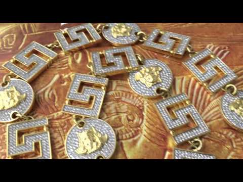 New Custom XL .925 Silver Simulated Diamond Iced Out Medusa Chain Necklace || Shopjw
