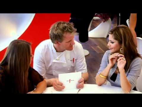 Cheryl Cole and Kimberley Walsh visit the Chef - Gordon Ramsay