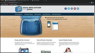 The Social Media Suitcase homepage