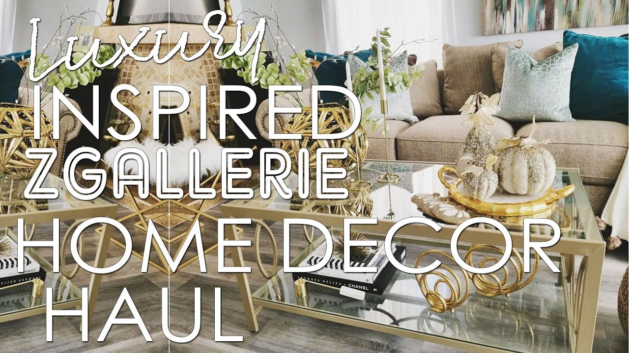 917403cb43b Luxury Inspired Zgallerie Home Decor Haul - YouTube