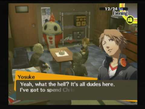Persona 4 - Christmas Eve - Hanging out with Guys(Teddy, Yosuke ...