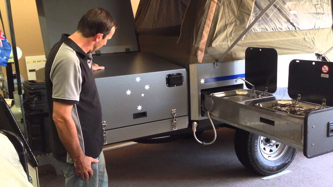 Eureka Camper Trailer Kitchen   YouTube