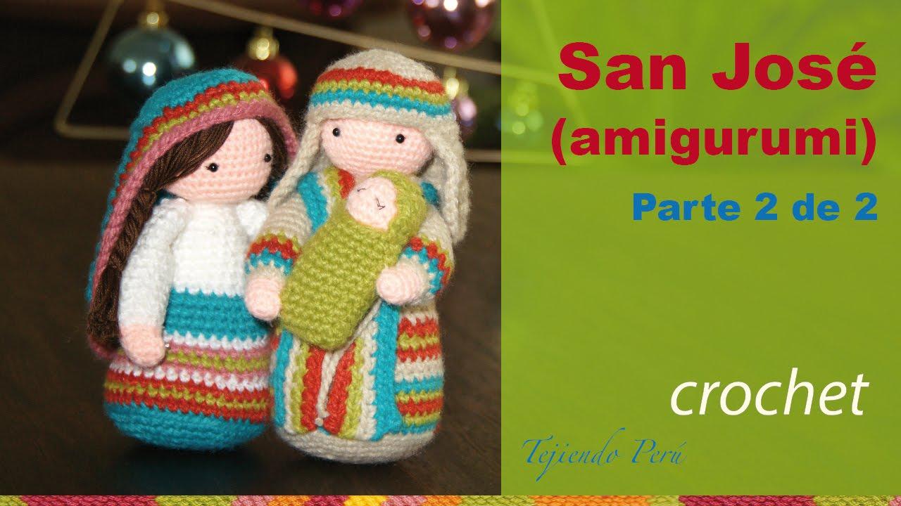 San José tejido a crochet (amigurumi) Parte 2 de 2 - YouTube