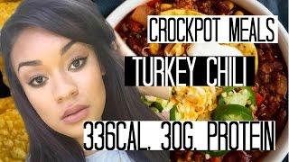 Turkey Chili Recipe| DIET HACK (CROCKPOT COOKING)
