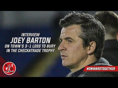 Joey Barton on defeat at Bury | Post-Match