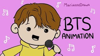 BTS Animation - Karaoke! (The Game Show PART 2)
