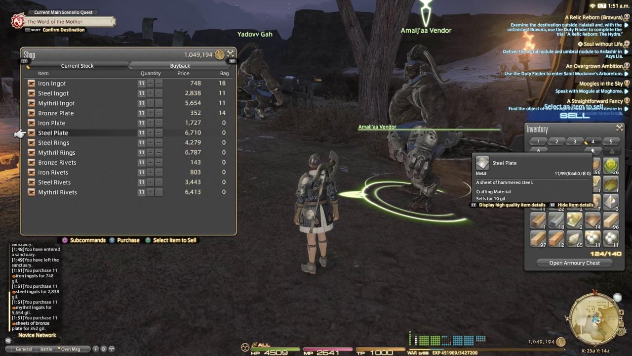 [NPC] Final Fantasy XIV - Amalj'aa Vendor
