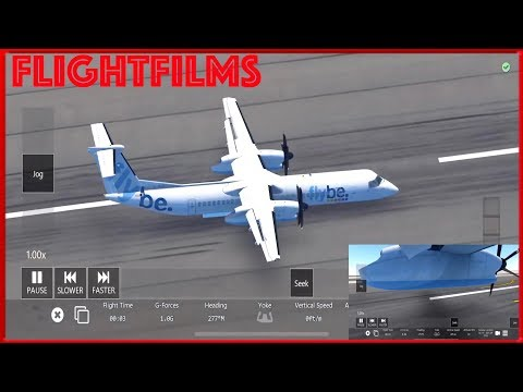 Infinite Flight Dash 8 Q400 Belly Landing at San Diego!