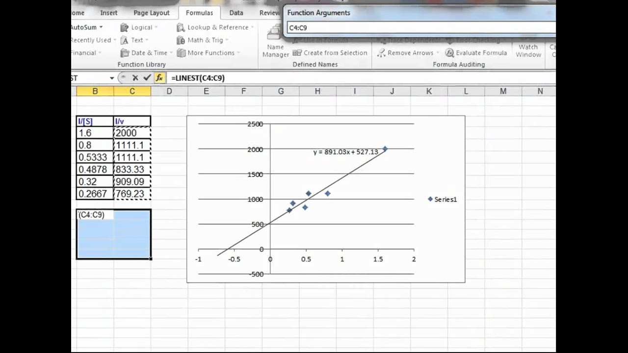 how to get the residual plot exel