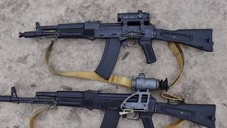 AUTOMATICAL RIFLE  AK-104 7,62*39 BLANK REVIEW AND SHOOTING