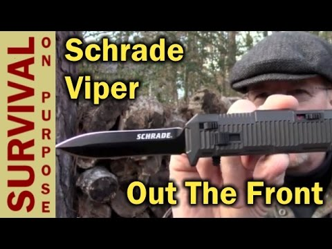 Schrade SCHOTF8B Viper Out the Front Assisted Opening Knife