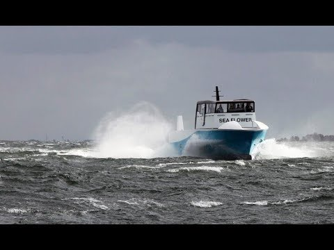 ProZero 18m Air Supported Vessel -  Sailing in 30kts of Breeze