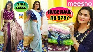 Meesho Saree haul Silk Chiffon Georgette Saree haul Messho Saree Review Online Saree haul