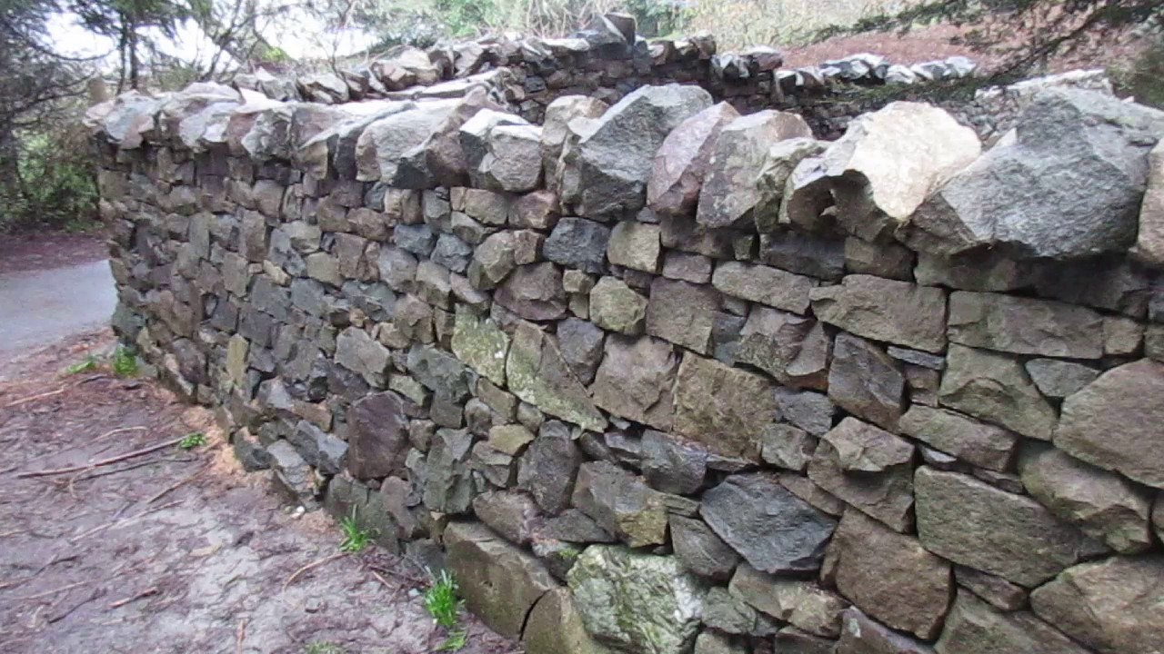 Amazing Dry Stack Stone Wall Youtube