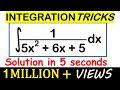 INTEGRATION SHORTCUT METHOD- Trick to calculate Integrals for Quadratics