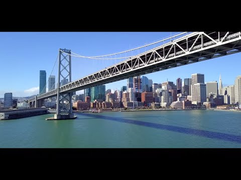 San Francisco Bay Bridge by Drone (4K)