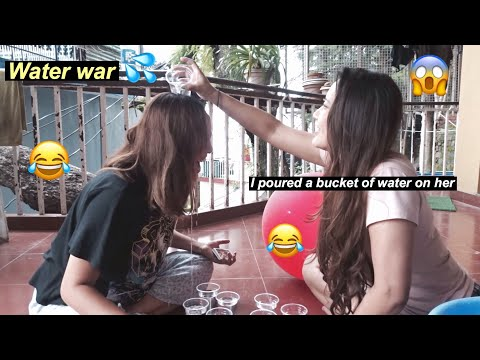Daily vlog 8 || water war with my sister [ SHE LOST!!!!] || Tibetan vlogger ||