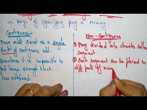 contigous vs non contiguous | memory allocation