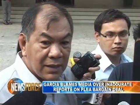 """April Abello - GNN """"Garcia blames media over inaccurate reports on plea bargain deal"""""""