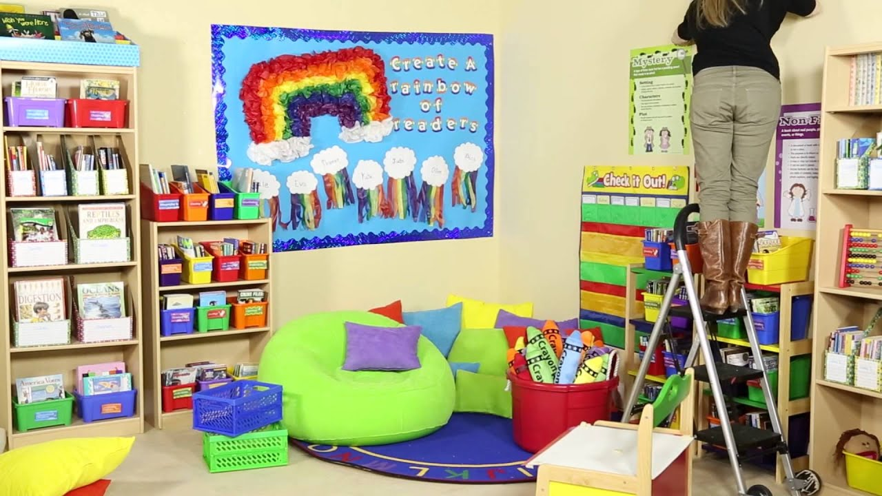 Printable Home Decor Rainbow Reading Corner Behind The Scenes Youtube