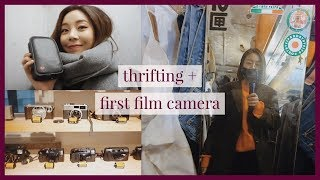 Thrift shopping in Seoul + buying my first film camera   vlog#12