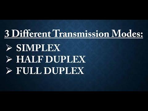 Simplex | Half Duplex | Full Duplex