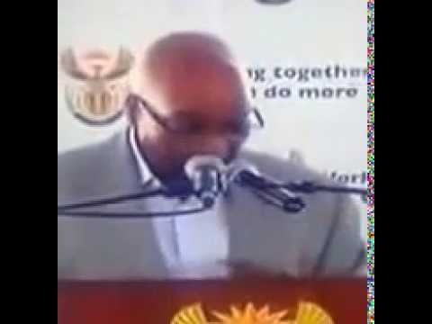 Zuma (President of South Africa) number blunder.