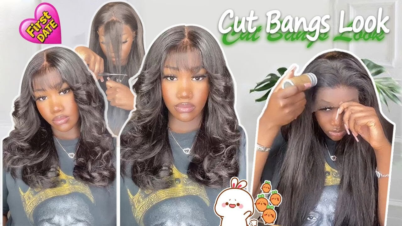 Must Have!😩Invisible HD Lace Wig Review! Cut Cute Bangs + Get Fluffy Curls Ft. #ULAHAIR