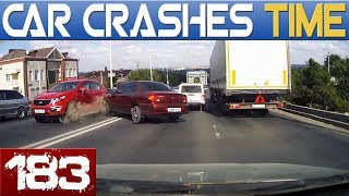 BEST OF DASHCAMS - CAR CRASHES & ROAD FAILS - Episode #183