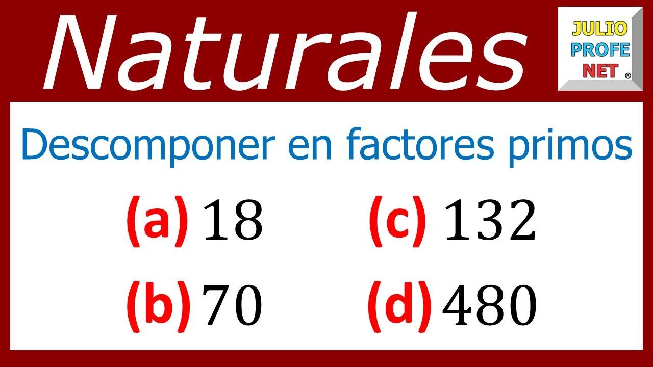 42e691ca2 DESCOMPOSICIÓN DE NÚMEROS EN FACTORES PRIMOS - Video 1 - YouTube