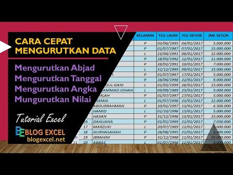 Cara Mengurutkan Data di Microsoft Excel