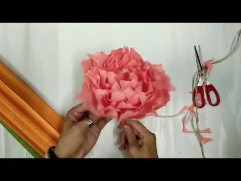 How to make paper peony flower