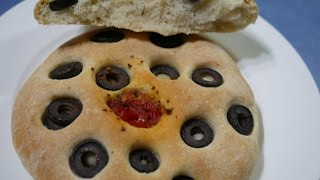 Olive & Tomato Bread from scratch