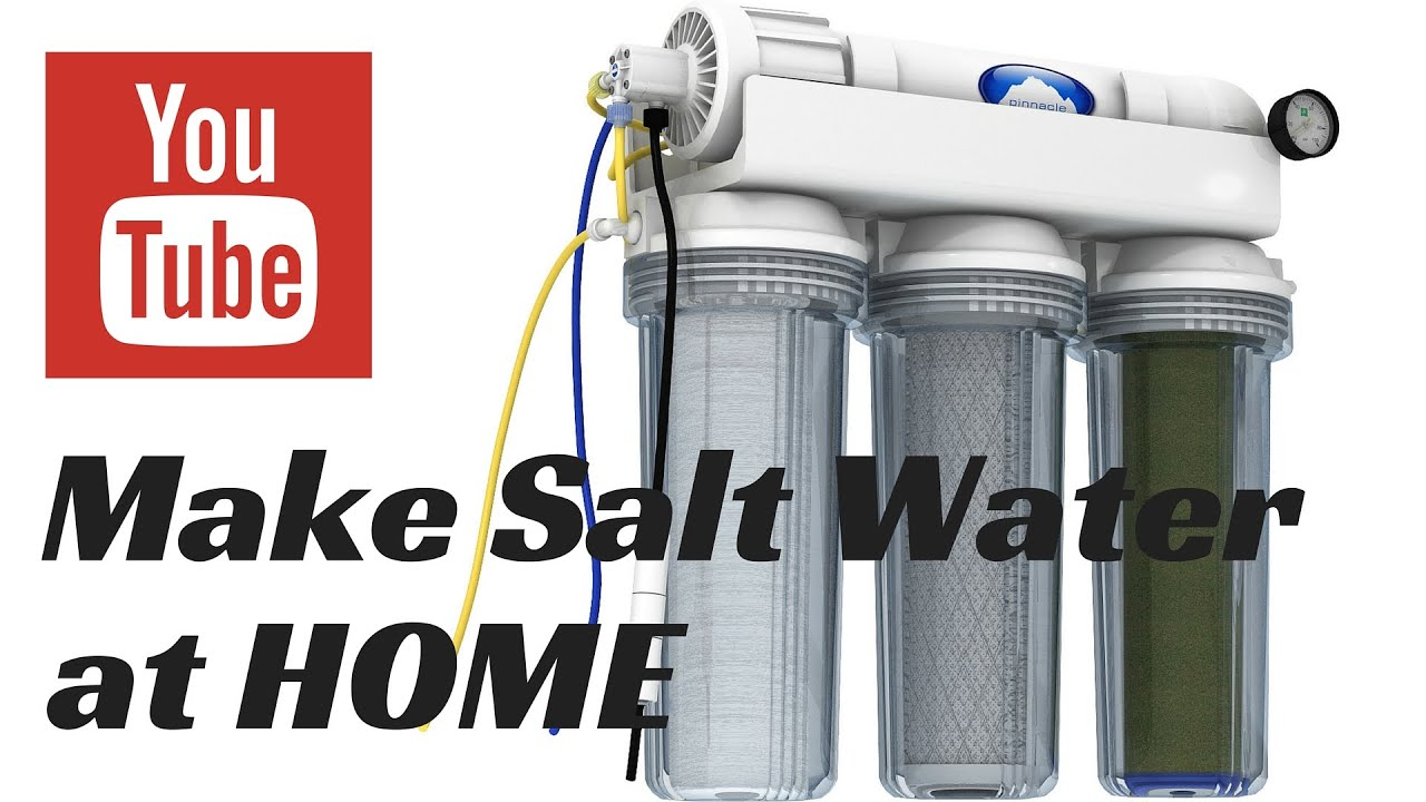 how to make saltwater at home for your aquarium