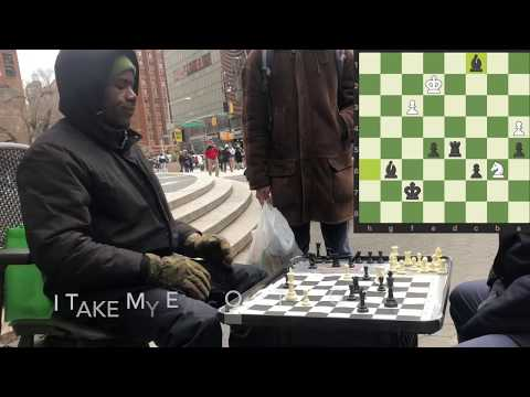 NYC Union Square Park Chess Hustling (Aggressive Chess Opening)