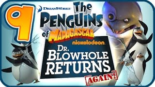 Penguins of Madagascar Dr Blowhole Returns Again Walkthrough Part 9 (PS3) 100% Rescue Roger