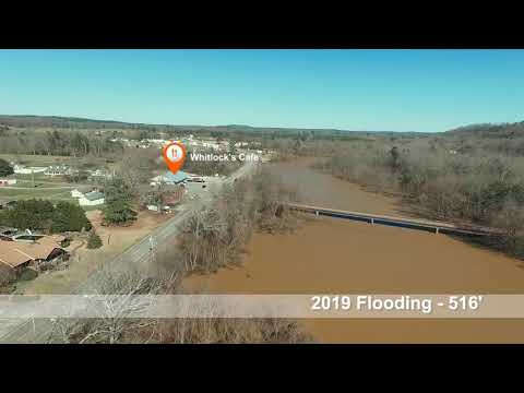 2019 February Lewis Smith Lake Flooding in Cullman County