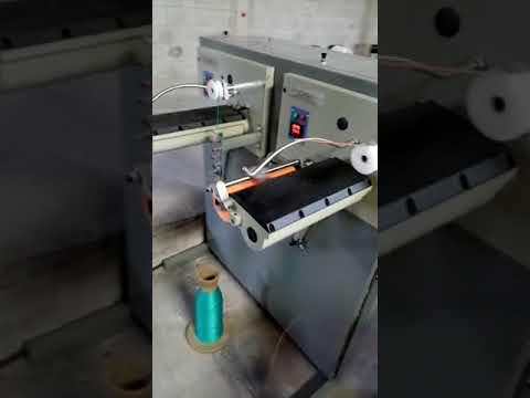 How to make PP Raffia Twine Banana Rope Step3  PP Raffia Yarn Spool Winder Machine