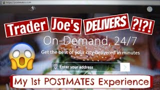 1st Postmates Food Delivery Experience + $10 OFF COUPON CODE