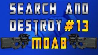 MW3    Search & Destroy M.O.A.B #13 w/ P90