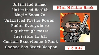 Mini Militia V3.0.47 Unlimited Hack 2017 [ No Root ]