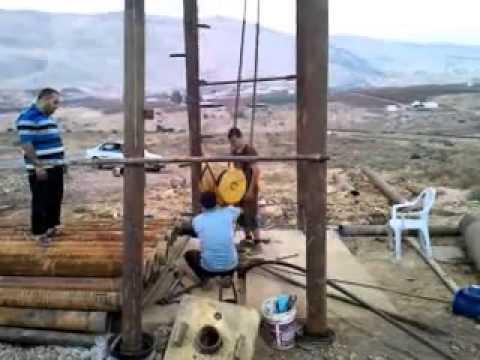 طريقة حل وتركيب الآبار الإرتوازية   Installation method artesian wells