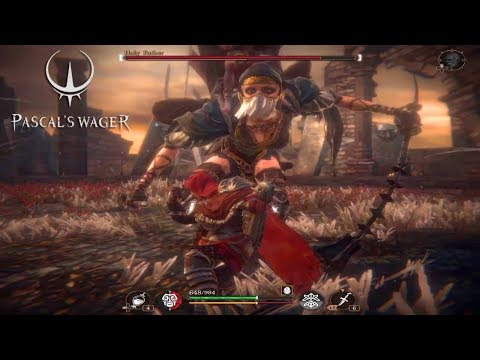PASCALS WAGER - Holy Father Boss Fight Gameplay - Action RPG - Android/iOS 2020