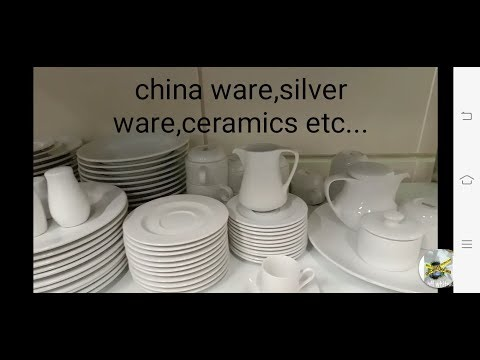Flatware,silver Ware,chinaware,ceramics And Holloware.