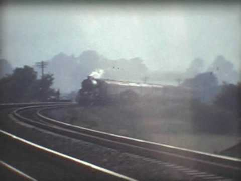 Ex GWR King class 6000 'King George V' on Llanfihangel bank in 1971